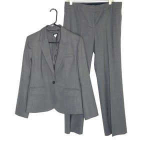 Womens J.Crew Pants Suit SZ 10 Gray Favorite Fit